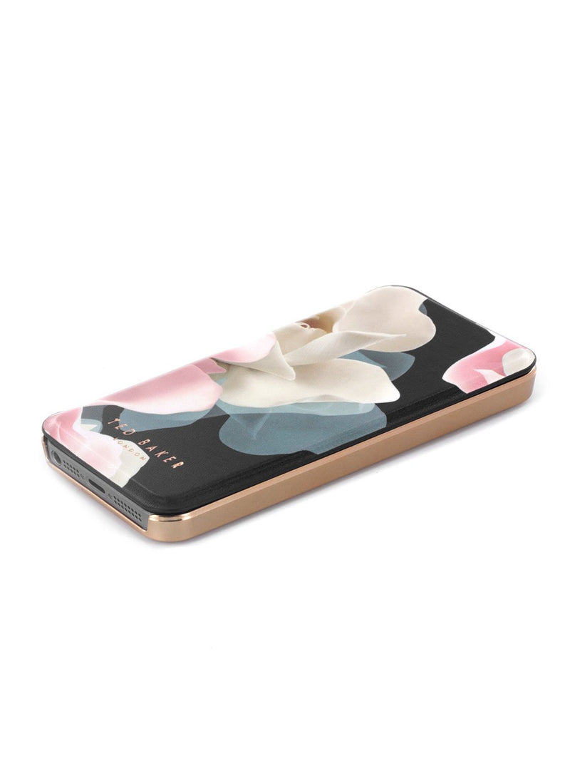 Face up image of the Ted Baker Apple iPhone SE / 5 phone case in Black