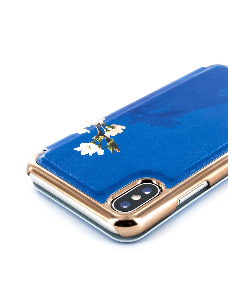 Detail image of the Ted Baker Apple iPhone XS / X phone case in Blue