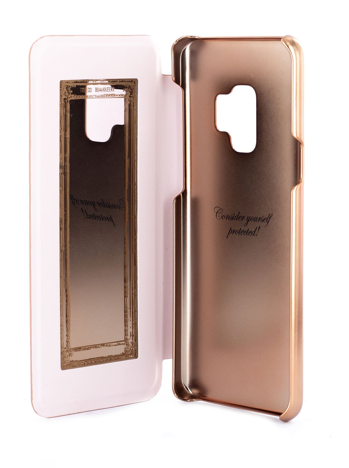 Inside image of the Ted Baker Samsung Galaxy S9 phone case in Rose Gold