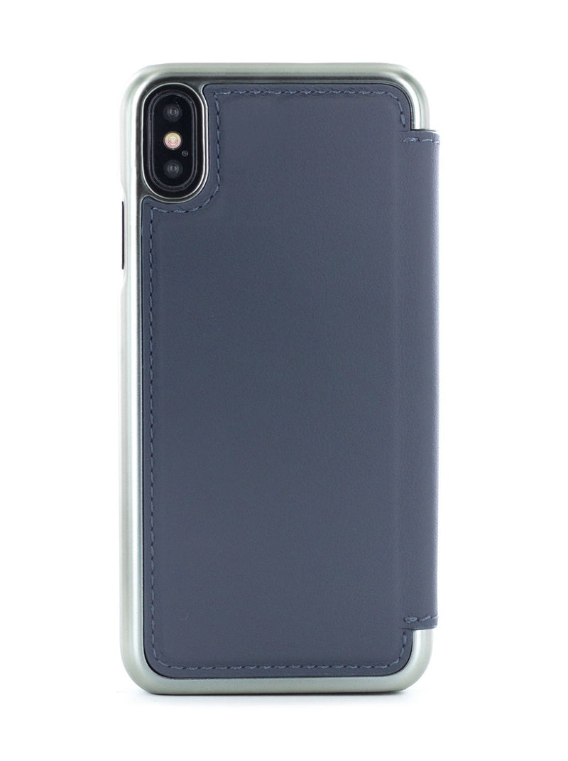Back image of the Greenwich Apple iPhone XS / X phone case in Seal Grey