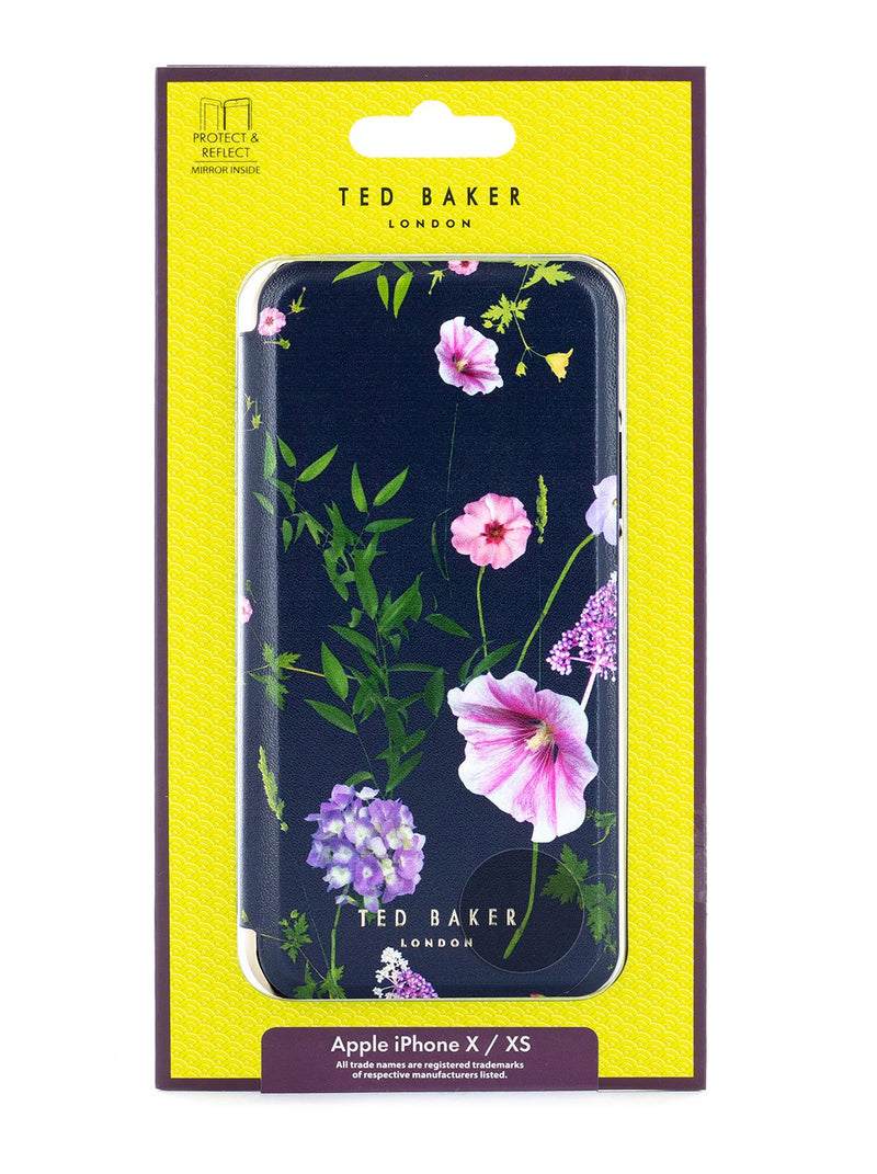Packaging image of the Ted Baker Apple iPhone XS / X phone case in Dark Blue