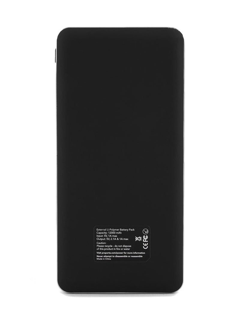 Back image of the Proporta Universal power bank in Black