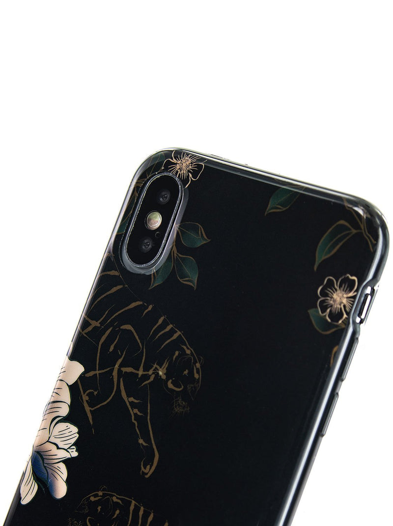 Detail image of the Karen Millen Apple iPhone XS / X phone case in Black