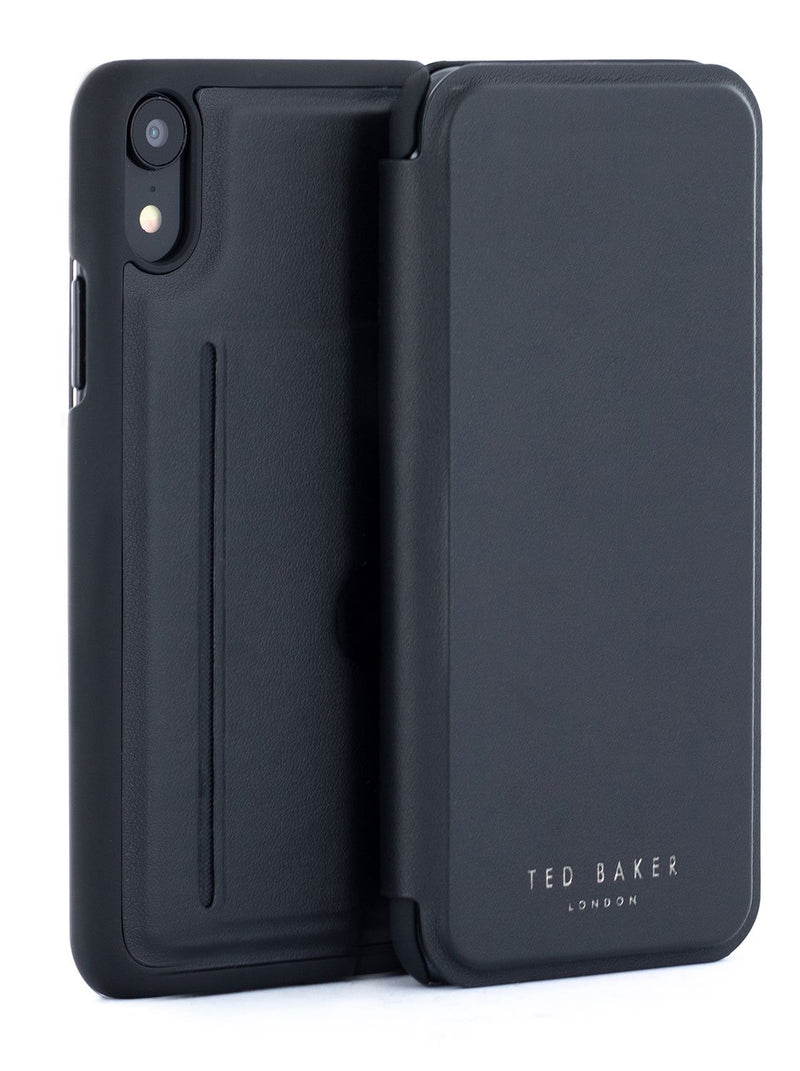 Front and back image of the Ted Baker Apple iPhone XR phone case in Black