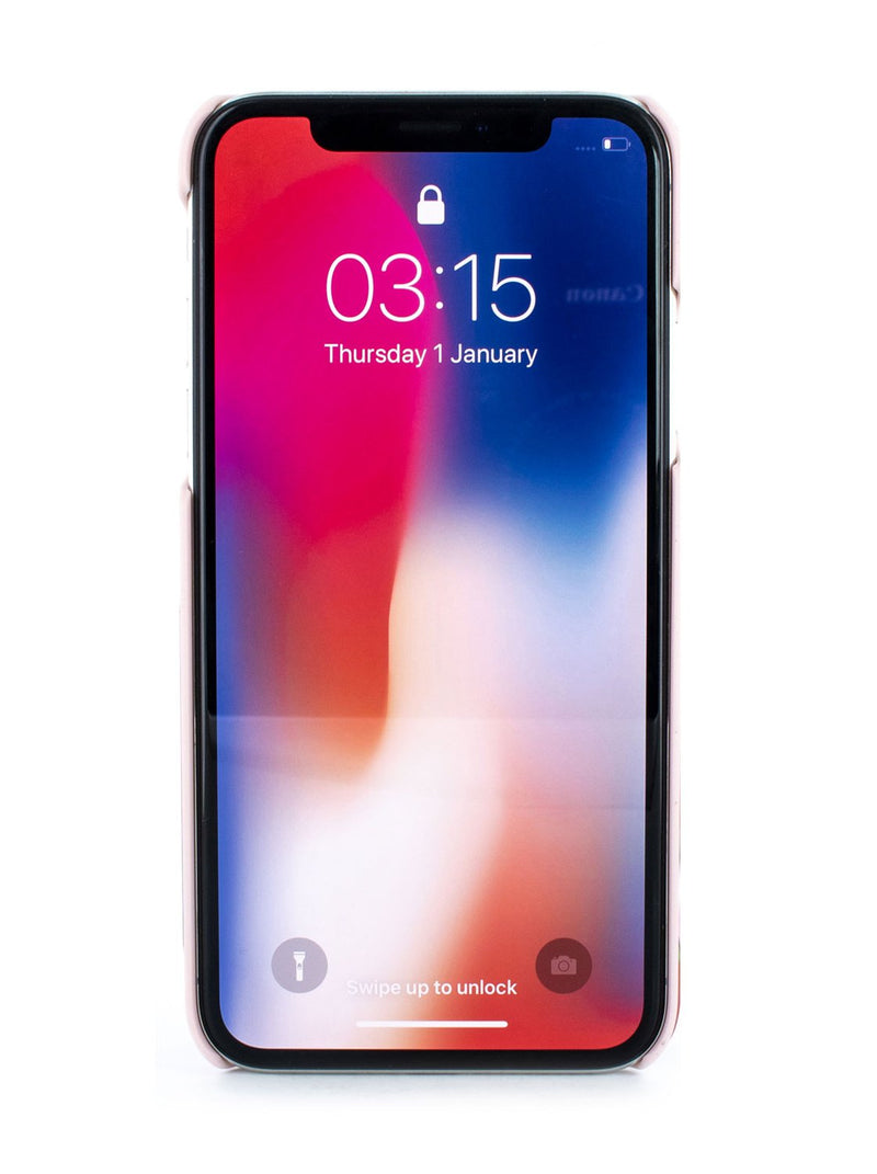 Front image of the Ted Baker Apple iPhone XS / X phone case in Iguazu Red