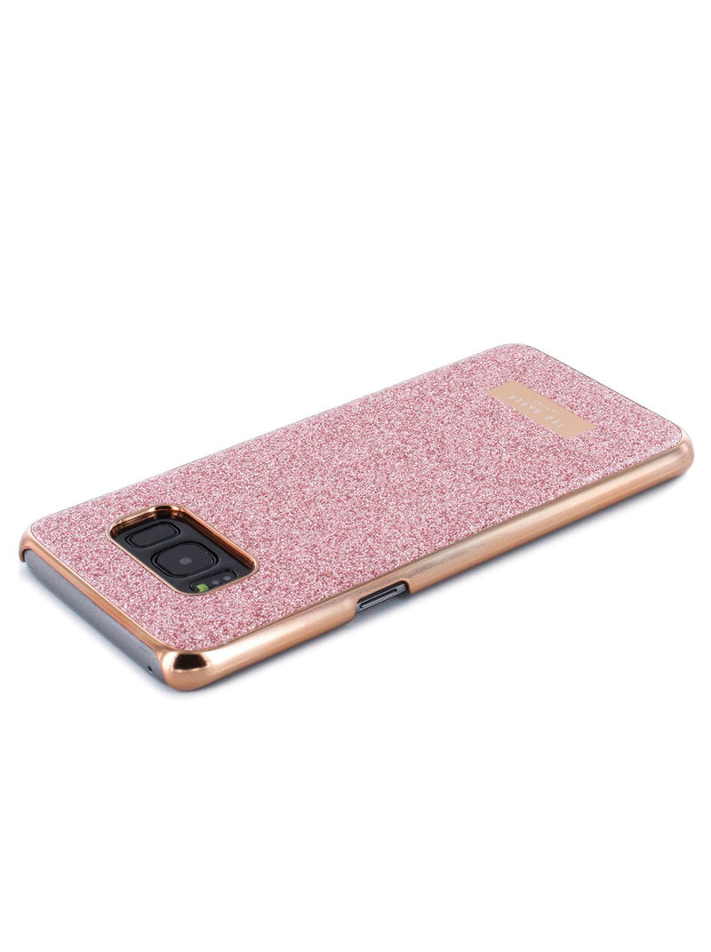 Face down image of the Ted Baker Samsung Galaxy S8 phone case in Rose Gold