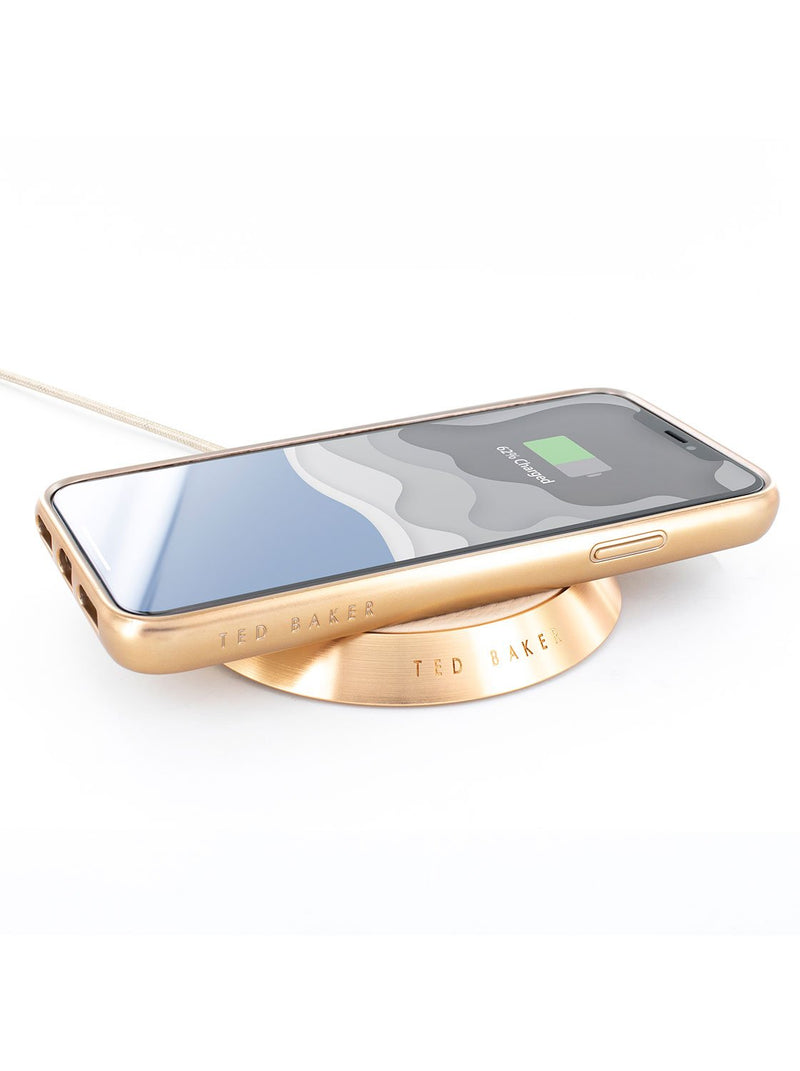 Charging device image of the Ted Baker Apple iPhone XS Max phone case in Taupe