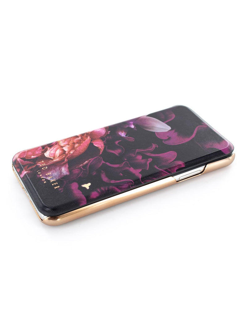 Face up image of the Ted Baker Apple iPhone XS / X phone case in Black