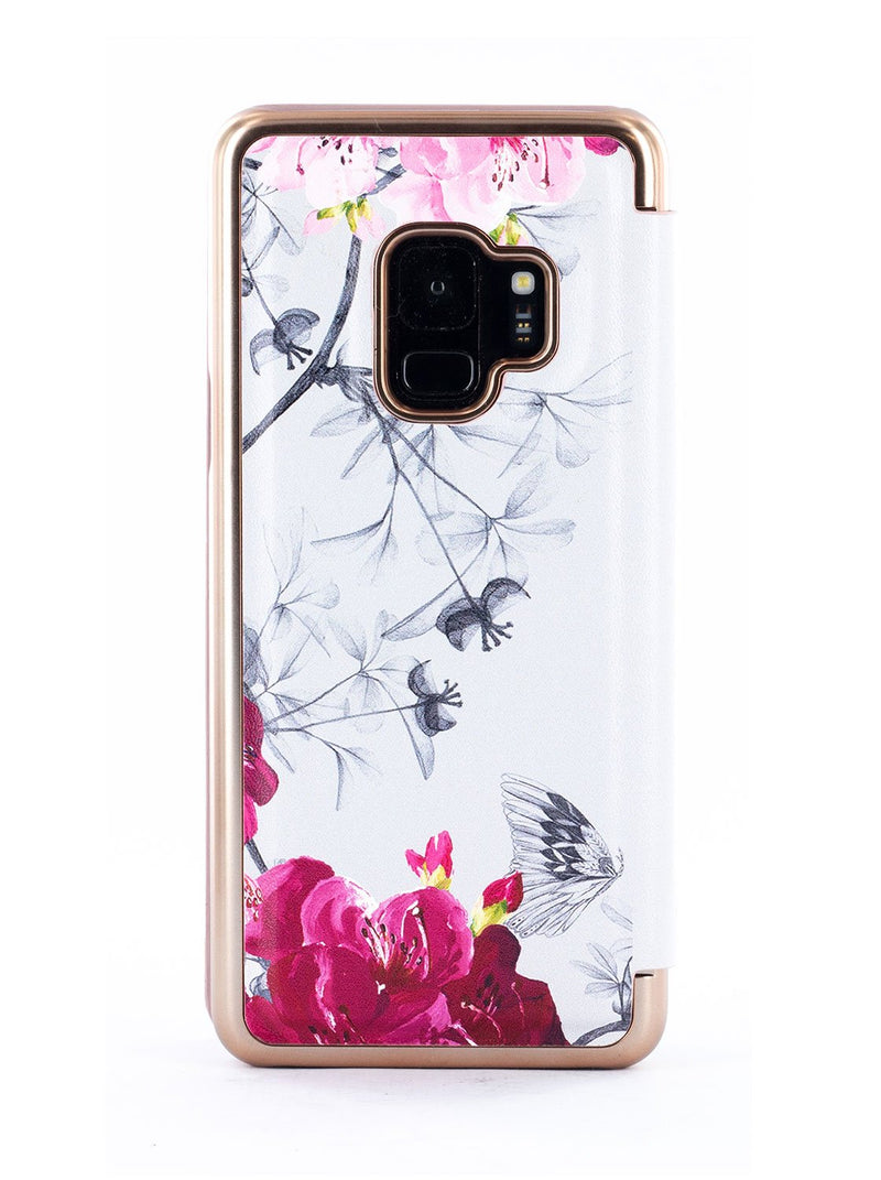 Back image of the Ted Baker Samsung Galaxy S9 phone case in Babylon Nickel
