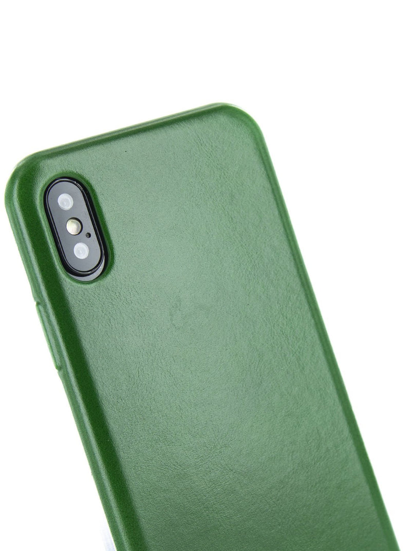 Detail image of the Ted Baker Apple iPhone XS / X phone case in Dark Green