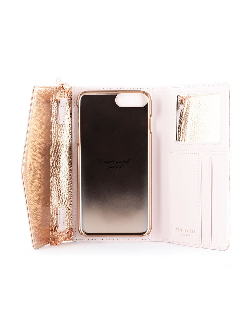 Inside image of the Ted Baker Apple iPhone 8 Plus / 7 Plus phone case in Rose Gold