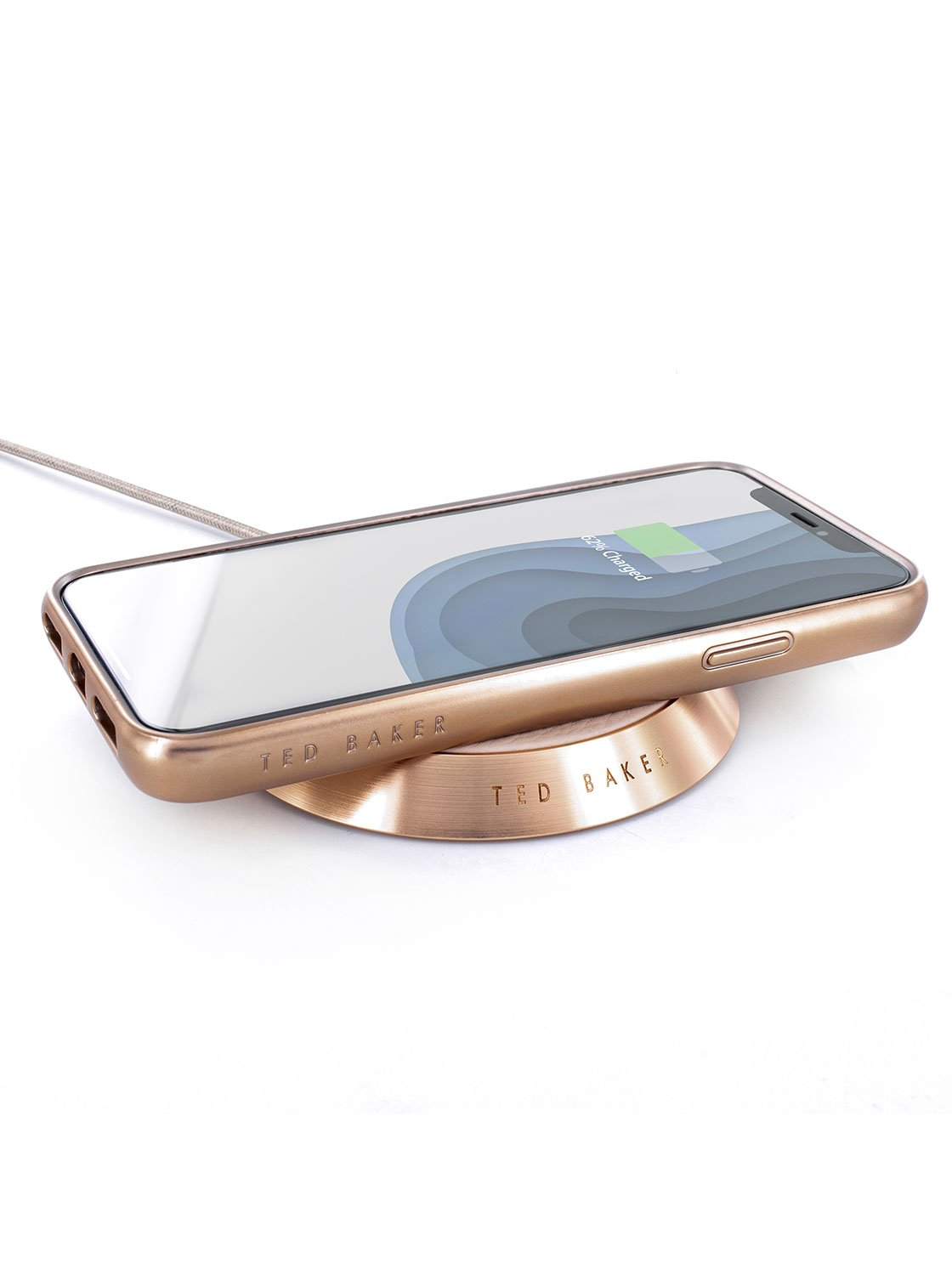 With compatible device image of the Ted Baker Universal power bank in Taupe