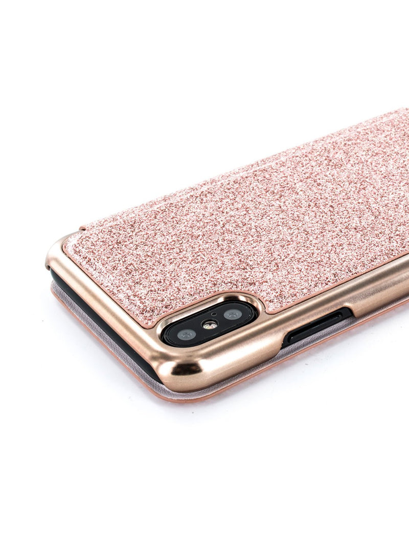 Detail image of the Ted Baker Apple iPhone XS / X phone case in Rose Gold