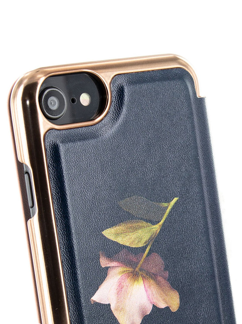 Detail image of the Ted Baker Apple iPhone 8 / 7 / 6S phone case in Arboretum Black