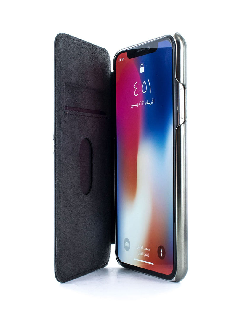 Inside image of the Greenwich Apple iPhone XS Max phone case in Black