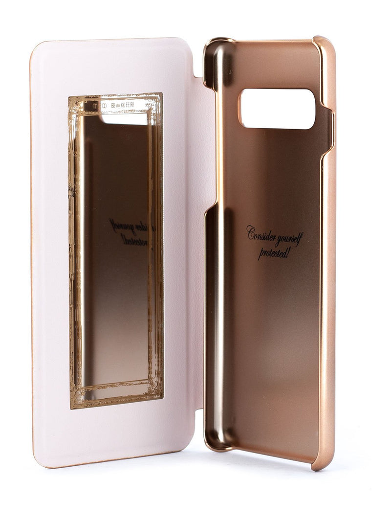 Inside image of the Ted Baker Samsung Galaxy S10 phone case in Rose Gold