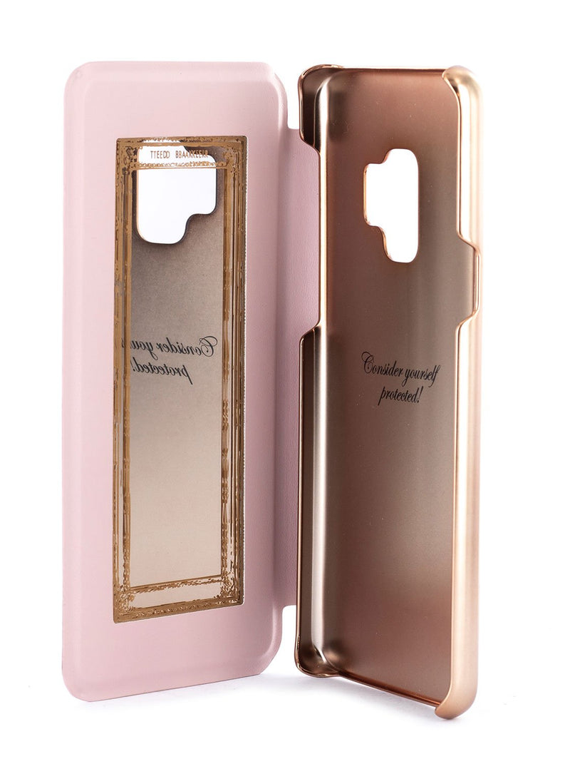 Inside image of the Ted Baker Samsung Galaxy S9 phone case in Babylon Nickel