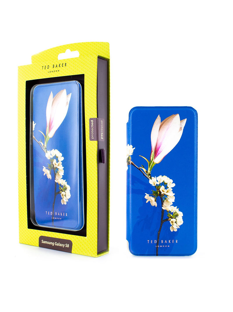 Packaging image of the Ted Baker Samsung Galaxy S8 phone case in Blue
