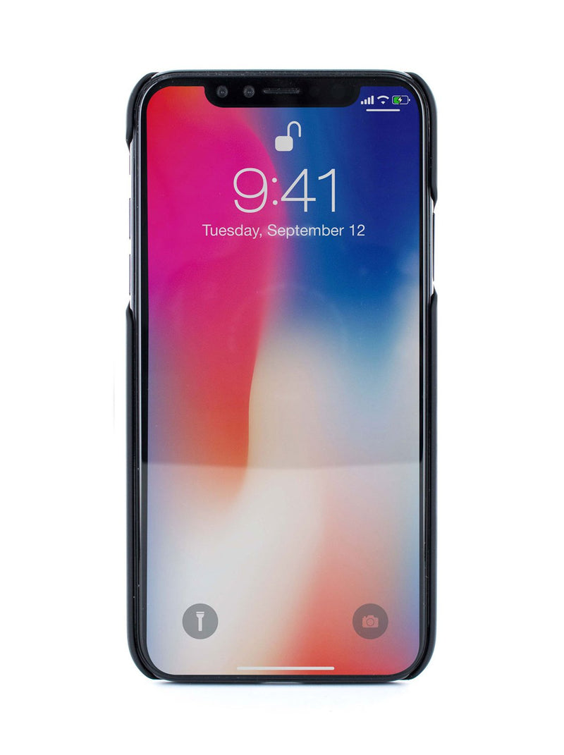 Front image of the Ted Baker Apple iPhone XS / X phone case in Black