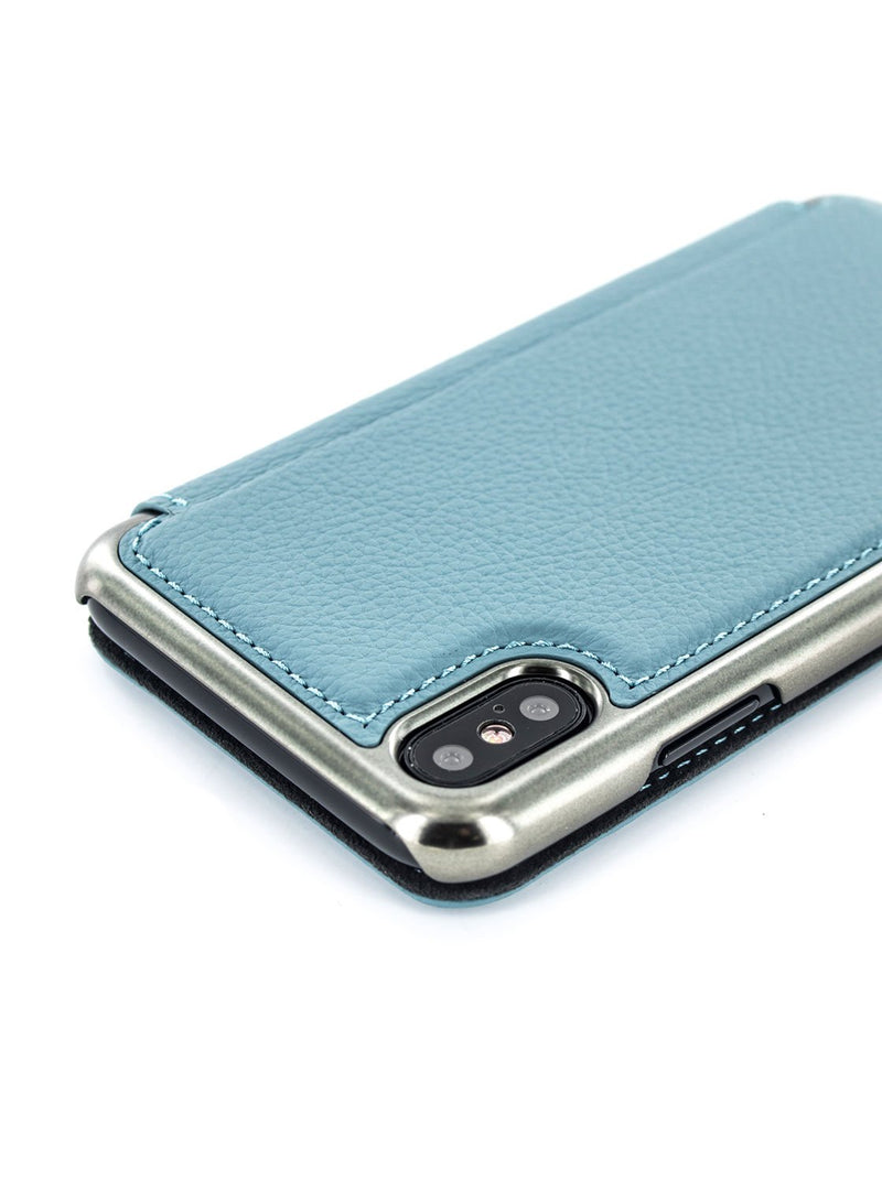 Detail image of the Greenwich Apple iPhone XS / X phone case in Tahiti Blue