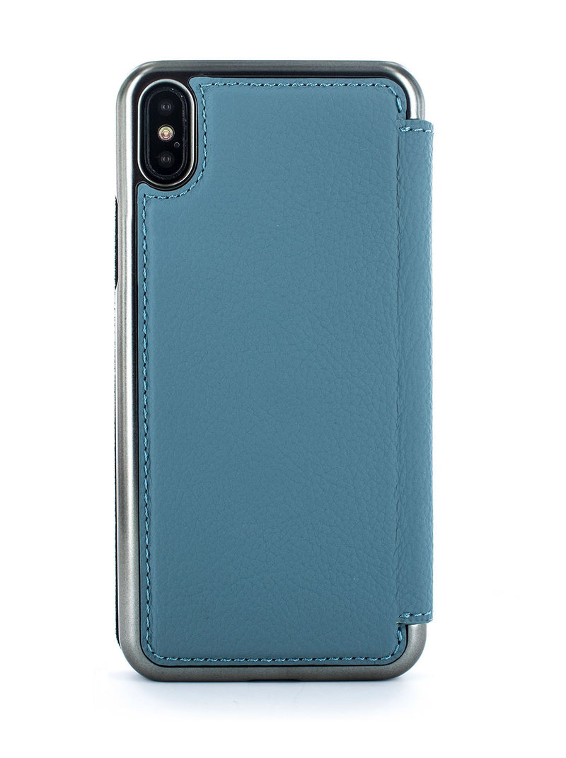 Back image of the Greenwich Apple iPhone XS Max phone case in Tahiti Blue
