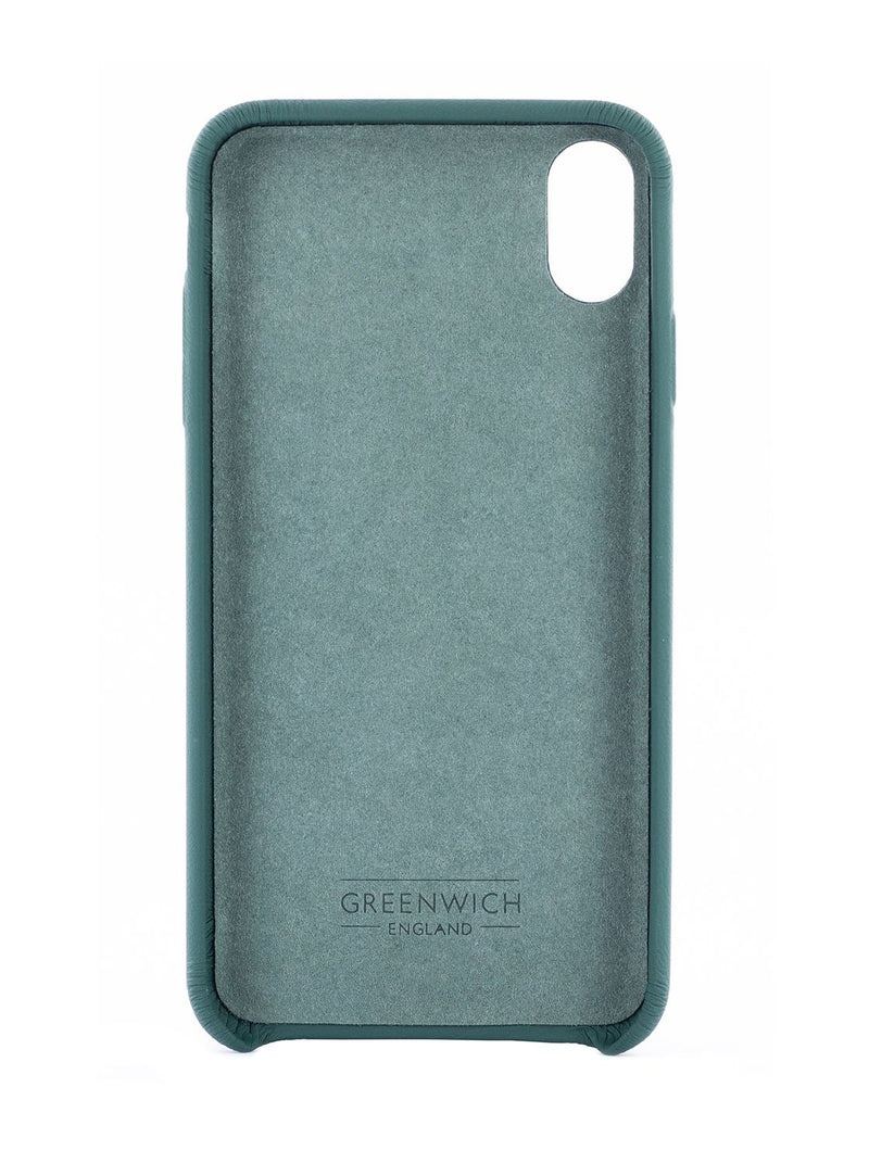 Inside image of the Greenwich Apple iPhone XS Max phone case in Emerald Green