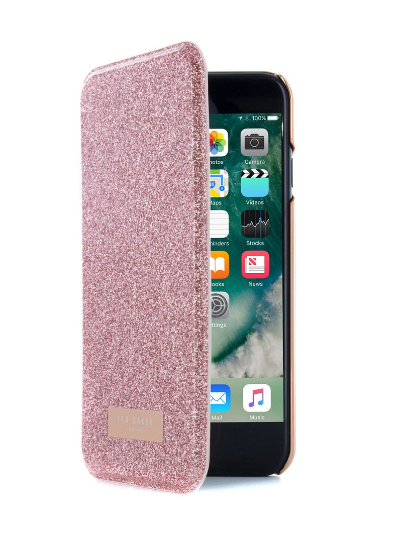 Flip cover image of the Ted Baker Apple iPhone 8 / 7 / 6S phone case in Rose Gold