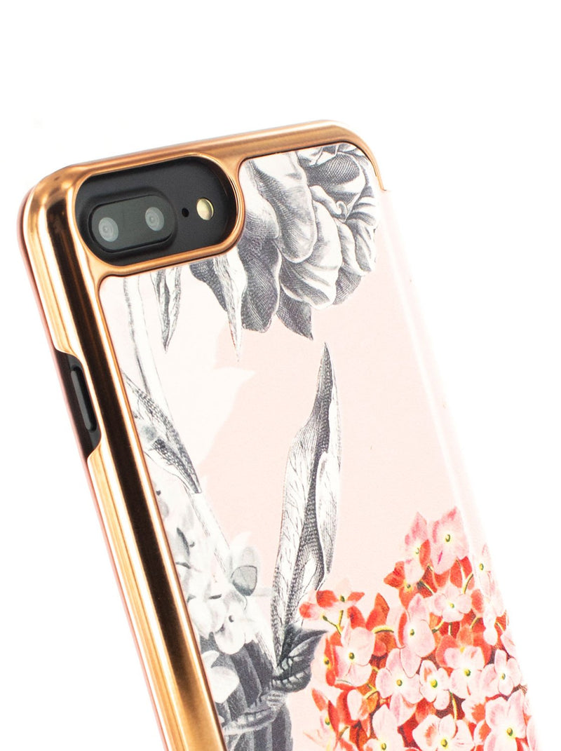 Detail image of the Ted Baker Apple iPhone 8 Plus / 7 Plus phone case in Nude