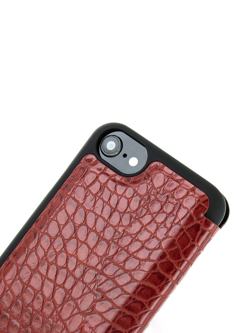 Detail image of the Karen Millen Apple iPhone 8 / 7 / 6S phone case in Red