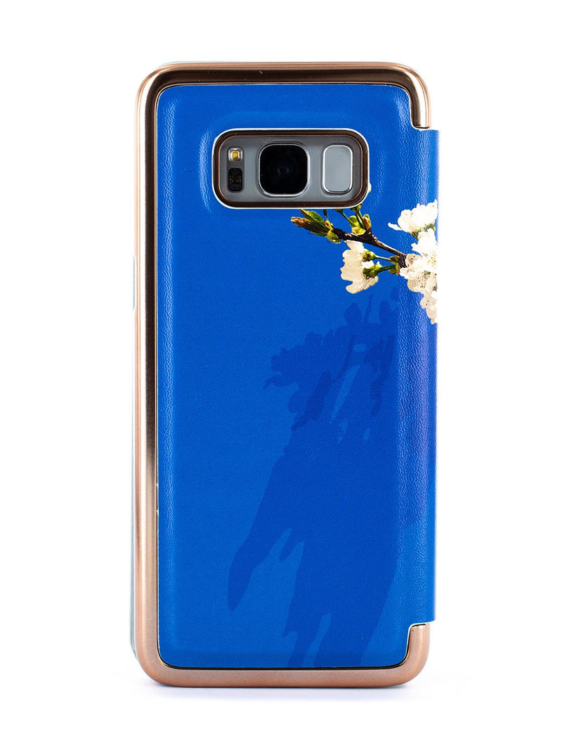 Back image of the Ted Baker Samsung Galaxy S8 phone case in Blue