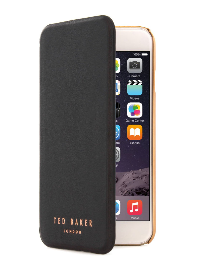 Flip cover image of the Ted Baker Apple iPhone 6S / 6 phone case in Black