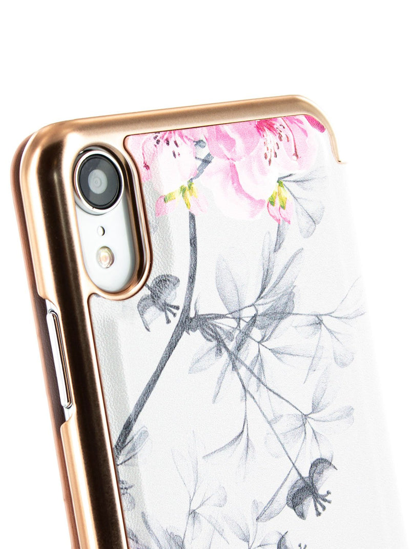 Detail image of the Ted Baker Apple iPhone XR phone case in Babylon Nickel