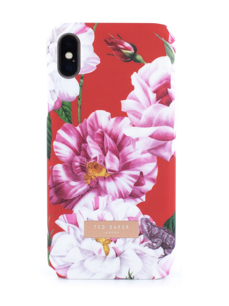 Hero image of the Ted Baker Apple iPhone XS / X phone case in Iguazu Red