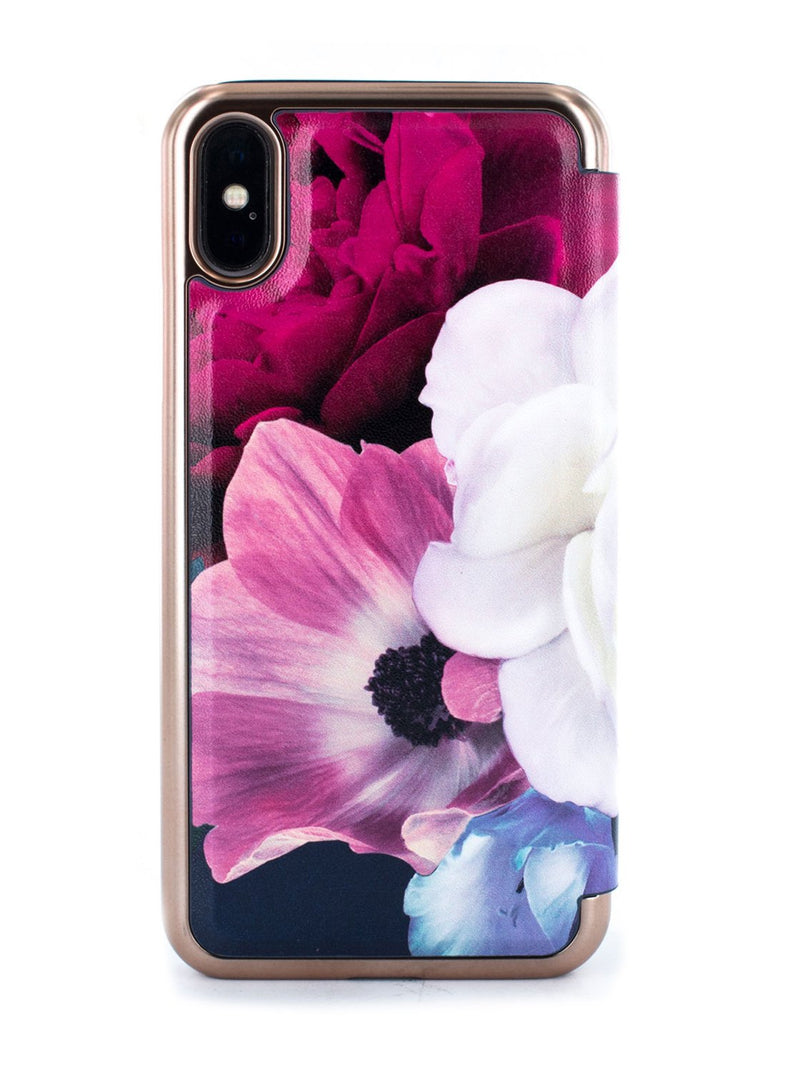 Back image of the Ted Baker Apple iPhone XS / X phone case in Dark Purple