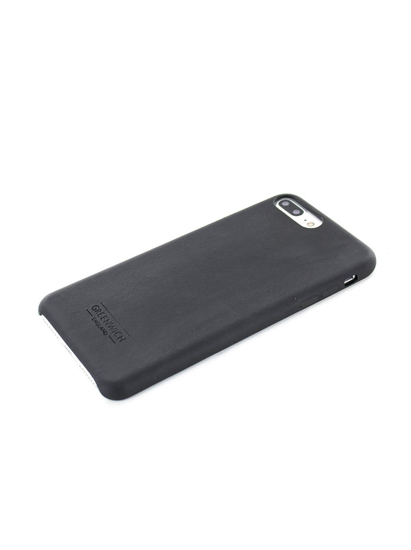 Face down image of the Greenwich Apple iPhone 8 Plus / 7 Plus phone case in Beluga Black