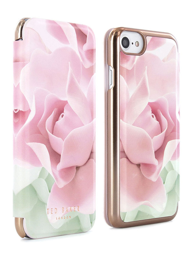 Front and back image of the Ted Baker Apple iPhone 8 / 7 / 6S phone case in Nude