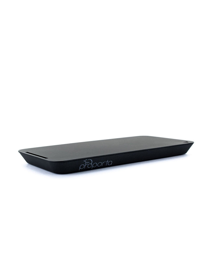 Side profile image of the Proporta Universal wireless charger in Black