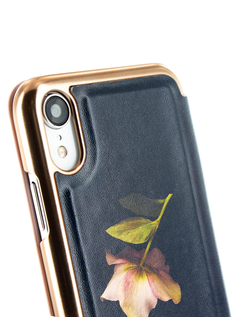 Detail image of the Ted Baker Apple iPhone XR phone case in Black