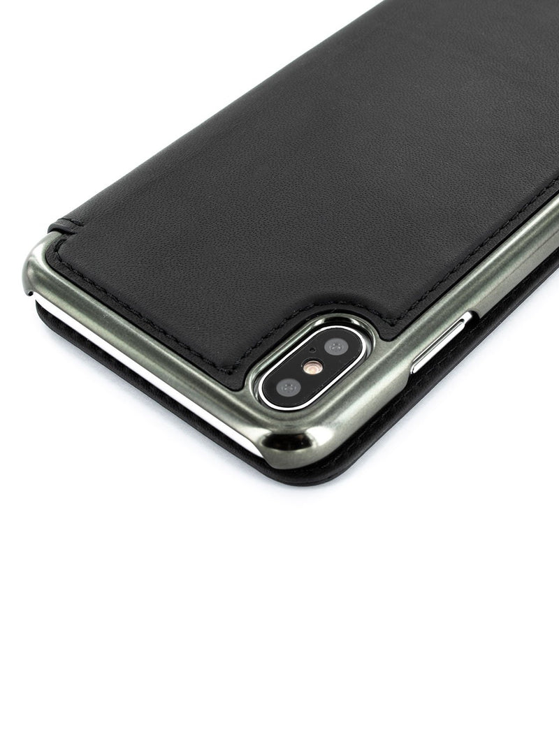 Detail image of the Greenwich Apple iPhone XS Max phone case in Beluga Black