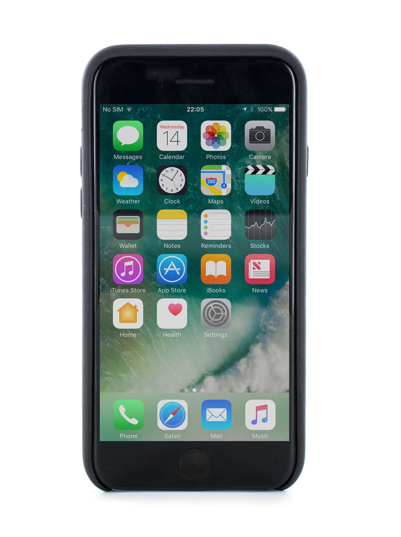 Front image of the Greenwich Apple iPhone 8 / 7 / 6S phone case in Beluga Black