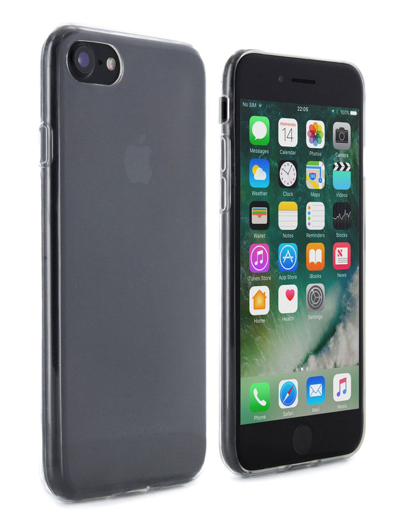 Front and back image of the Proporta Apple iPhone 8 / 7 / 6S phone case in Clear
