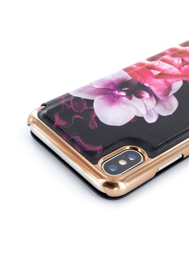 Detail image of the Ted Baker Apple iPhone XS / X phone case in Black