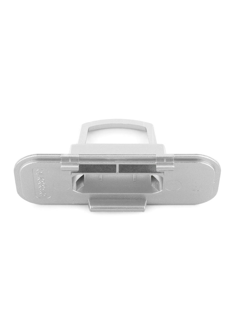 Top down image of the Proporta Lightning Dock Devices mount in Silver