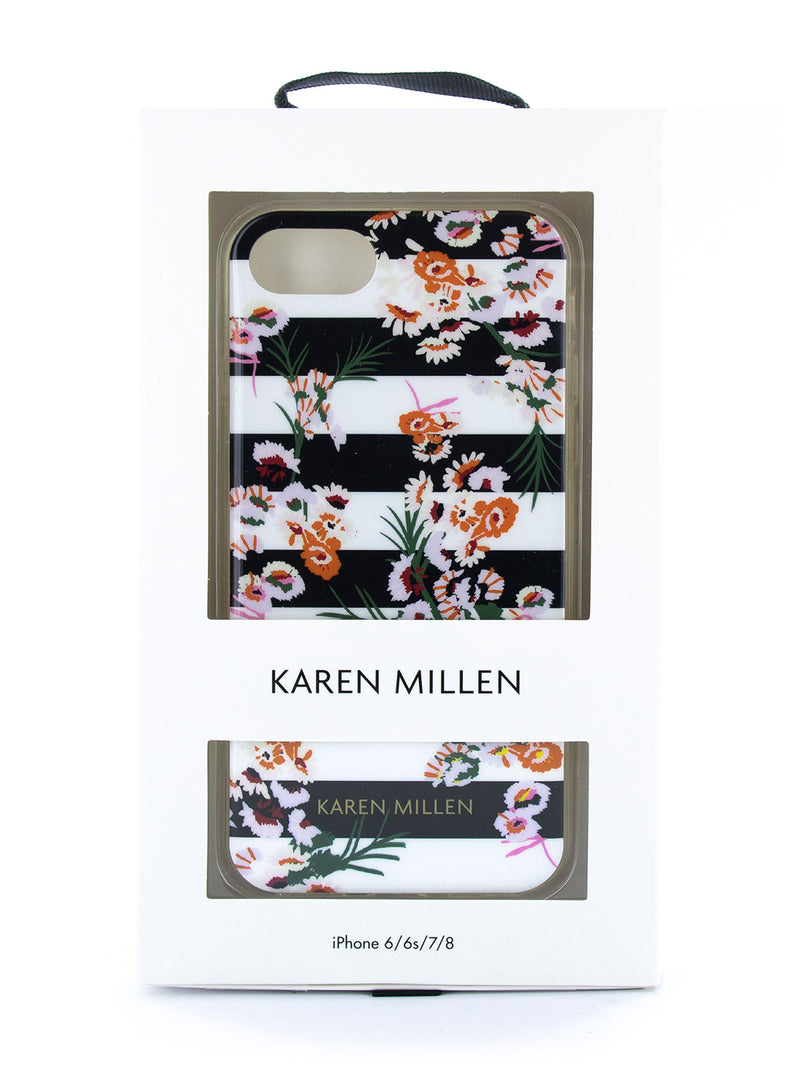 Karen Millen Slim Jelly Case for iPhone 8 / 7 / 6 - Floral Stripe