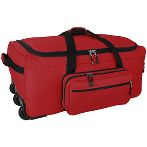 Product image of the Mini Monster Deployment Bag (red) on a white background