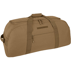 Image of a Mercurty Tactical Gear tan two in one duffel