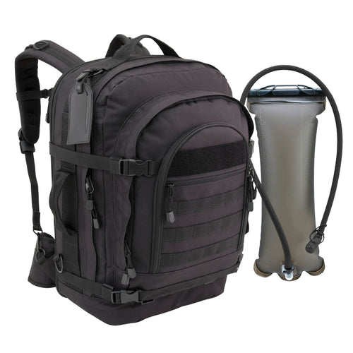 Blaze Bugout Bag with Hydration- Black