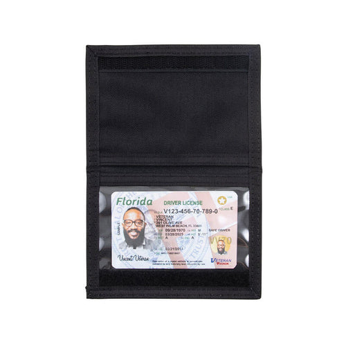 Double Sided ID Holder - Black