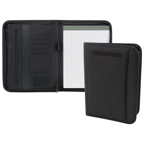Zippered Padfolio- Black