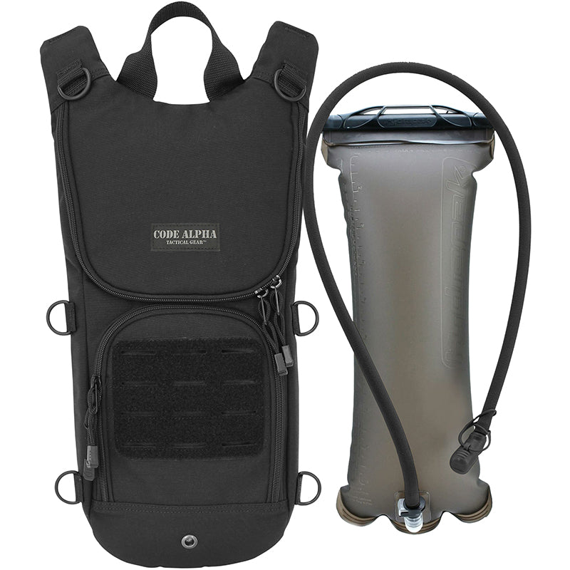 TAA Compliant- Sprinter Hydration Pack Laser Cut MOLLE- Black